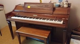 Baldwin console piano--regulary tuned and nice tone...make an offer!