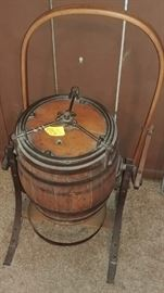 Antique tumbling butter churn