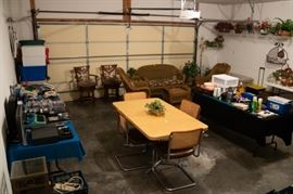 Electronics, outdoor wicker, floral, table/chairs, etc.