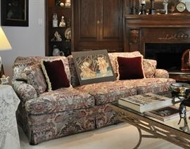 2nd Drexel sofa displaying an original Japanese Dyptych woodblock.