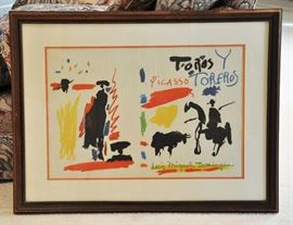 Picasso color lithograph - complete information on our evaluation of the piece is with it at the sale.