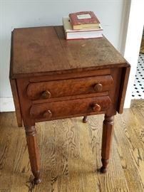 vintage drop leaf side table