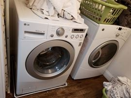 high efficiency, energy saver, front loading washing machine and dryer (available at presale)