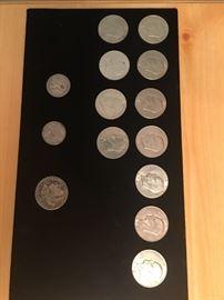 1972, 1974, 1971 SILVER DOLLAR COINS
