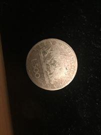 500 LIRA COIN