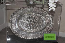 Large Sterling Challah Platter