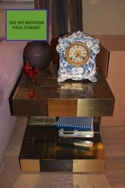 Paul Evans Table and China Clock