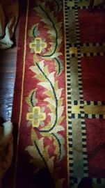 Red wool rug 9' x 12'