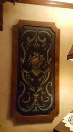 Hand painted panels set of 2
