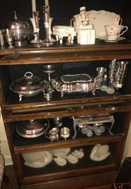 Lots of silver hollowware , collection of Lenox swans