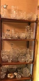 lots of Waterford and cut glass