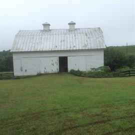 The Main Barn.  Many items to see inside!