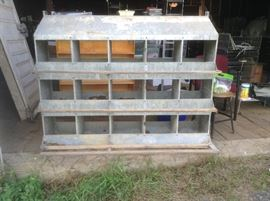 Poultry 15-Hole Chicken Nests ( Quantity 30+).  Selling individually or in bulk.  Many re-purposing options!