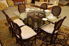 Bombay Company table with 6 chairs