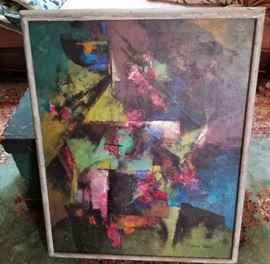 abstract oil ,med-large colorful