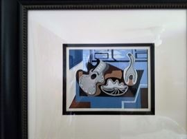 small abstract/ matted and framed