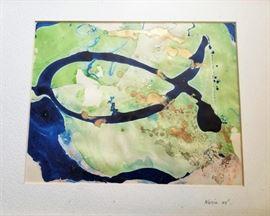 early fluid flo painting framed