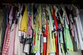 1940's- 60's dresses, blouses, skirts. Vintage children's clothing.