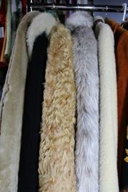 Wool coats, fur and faux fur.