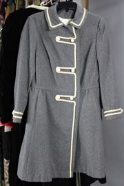 Military style wool coat