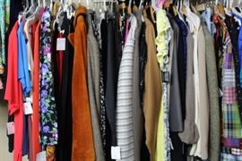 70's-80's silk blouses, blazers, dresses, skirts.
