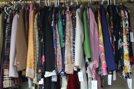 60's and 70's wool skirts, dresses, blouses