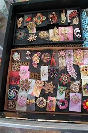 Fabulous statement costume jewelry, mostly vintage with a few newer pieces mixed in, all 50% off!
