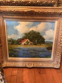 BETTE Lou Voorhis original oil bluebonnets