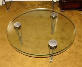 Mid Century Glass Cocktail Table