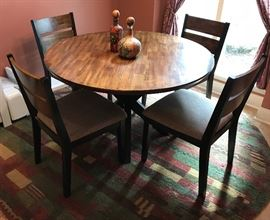 Pristine dinette set (table & 4 chairs), purchased 2 years ago from Raymour & Flanigan
