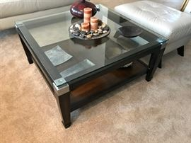 Glass top coffee table purchased 2 years ago from Raymour & Flanigan