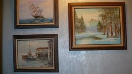SEVERAL PAINTINGS AND PRINTS