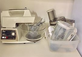 Oster stand mixer and accessories