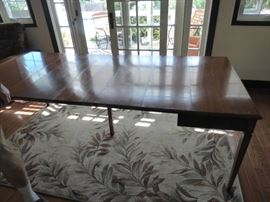 Cable Extension table, extended to full length, seats 8 adults comfortably!