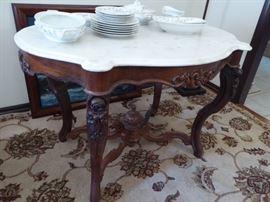 Marble top vintage parlor table Saturday's Sale Price  $88
