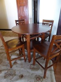 """Bistro """"Wine Tasting"""" pub height table with 4 chairs"""