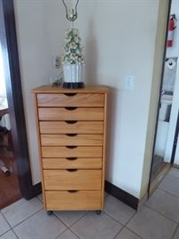 Great craft cabinet on wheels