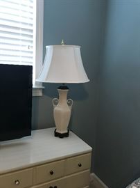 Beautiful Cream ceramic lamp
