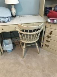 Ethan Allen swivel desk chair included with wall unit