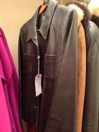 Talbots leather coat