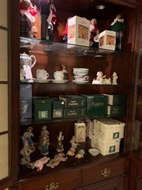 Byers carolers, Snowbabies, Lefton figures, Antique Chocolate set with 6 cups/saucers