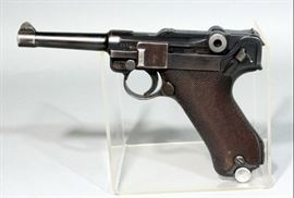 Mauser Luger 1936 S/42 P08 German Military Nazi Pistol, 9mm Luger, SN# 6361, Weimar Eagle, Pre Imperial Eagle Markings