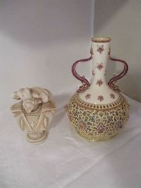 Vase and bust