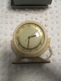 Antique table clock, in original box, very nice condition