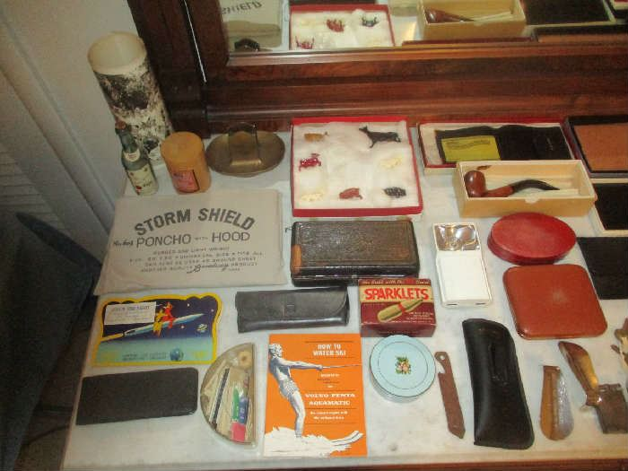 Pipe, paper goods and assorted items