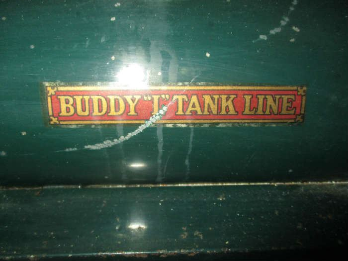 Label on Buddy L Tank Line Truck