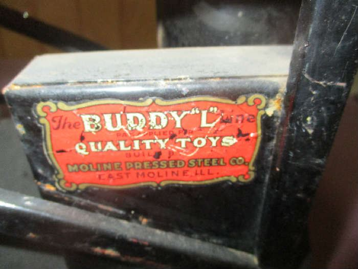 Label on Buddy L Toy Steam Shovel