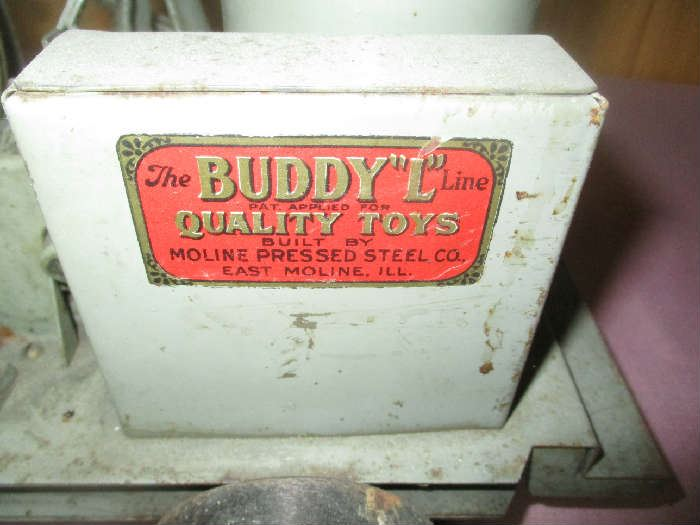 Label on Buddy L Concrete Mixer