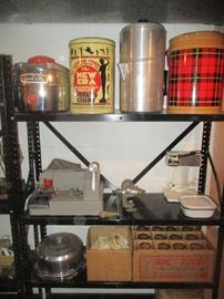 Tins, Coolers and glassware