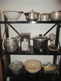 Pots and pans, Kitchen items, and assorted items